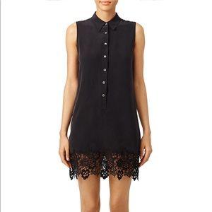 100% Silk Sleeveless Black Lace Lucinda Dress